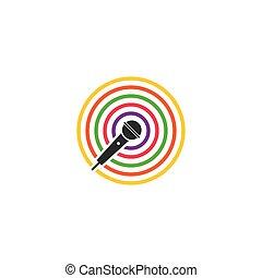 logo, microphone, musique