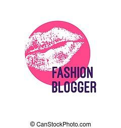 logo, mode, blogger