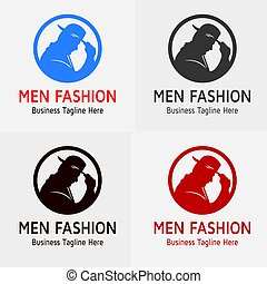 logo, mode, homme