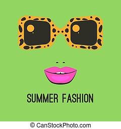 logo, mode, lunettes soleil