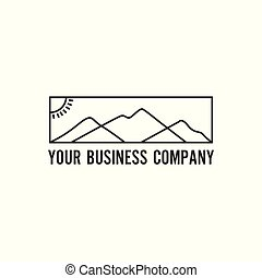 logo, montagne, minimaliste