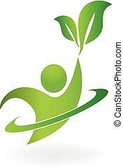 logo, nature, sain, vie