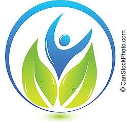 logo, nature, santé, gens