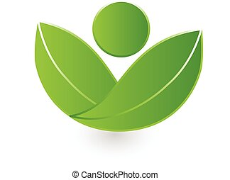 logo, nature, vecteur, santé