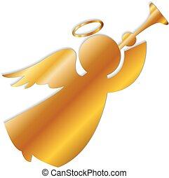 logo, or, ange