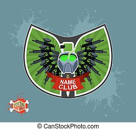 logo, paintball, emblem.