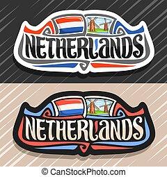 logo, pays-bas, vecteur