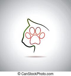 logo, peu, chat