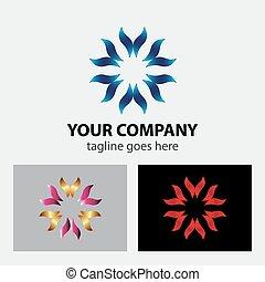 logo, prendre, mains, soin