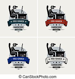 logo, pro, esports, gamer, design.