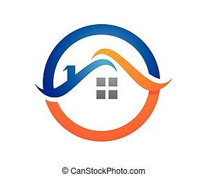 logo, propriété, gabarit