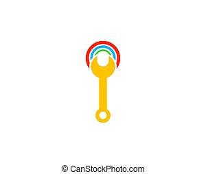 logo, réparation, wifi, concevoir élément