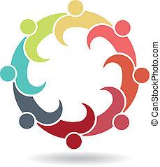 logo, réunion équipe, business, 8