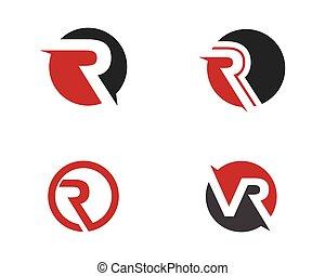 logo, r, lettre, gabarit