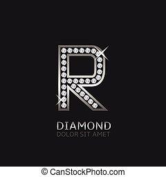 logo, r, lettre