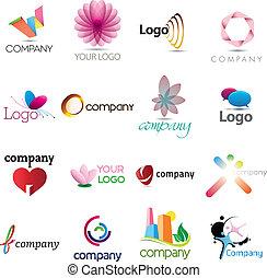 logo, riche, collection