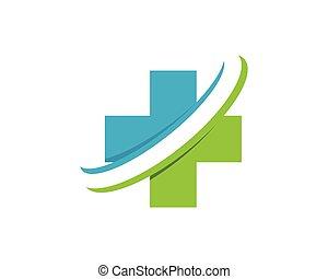 logo, santé médicale, gen, nuage