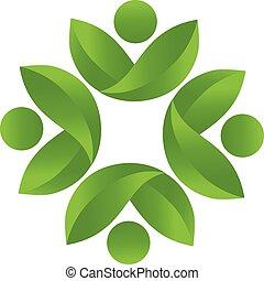 logo, santé, vecteur, collaboration, nature