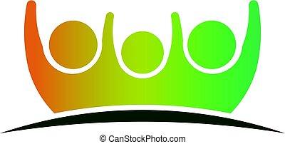 logo, soin, famille, gens