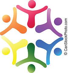 logo, soutien, équipe
