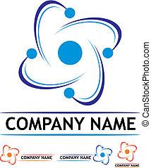 logo, station, puissance, nucléaire