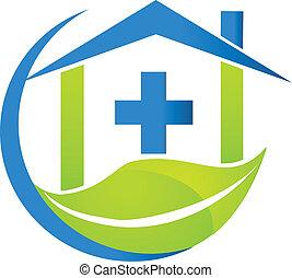 logo, symbole médical, business, nature