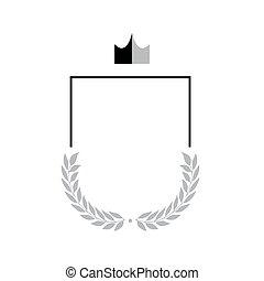 logo, symbole, résumé, bouclier, emblème, protection, sécurité, vide, compagnie