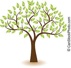 logo, symbole, vecteur, arbre