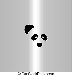 logo, symbole, vecteur, panda, icône