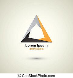 logo, triangle, gabarit