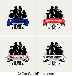 logo, valeur famille, design.