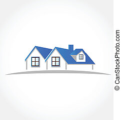 logo, vecteur, appartements, maisons