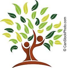 logo, vecteur, arbre