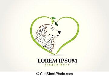 logo, vecteur, chien