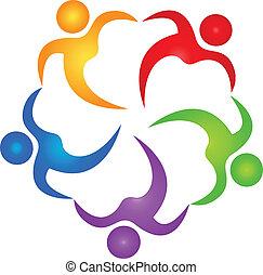 logo, vecteur, collaboration, assistant