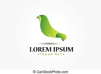 logo, vecteur, conception, oiseau