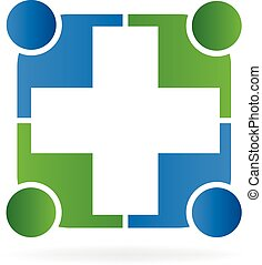 logo, vecteur, gens, soin