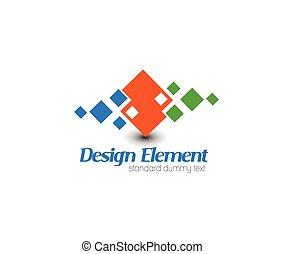 logo, vecteur, résumé