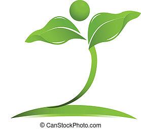logo, vecteur, santé, naturel, soin