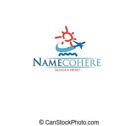logo, voyage, conception