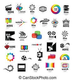 logos, collection, tv, photo, vidéo, pellicule