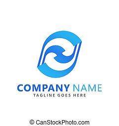logos, vecteur, résumé, compagnie, conception, goutte, illustration, gabarit