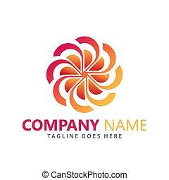 logos, vecteur, résumé, compagnie, fleur, conception, illustration, gabarit