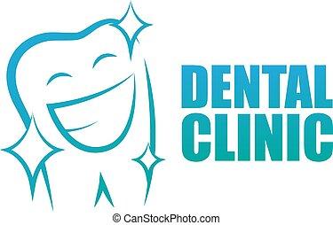 logotype., dentaire, gradient, vert, clinic., dlue