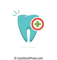 logotype, monde médical, idée, dent, vecteur, logo, dentaire