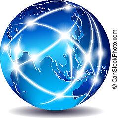 loin, communication, est, -, mondiale