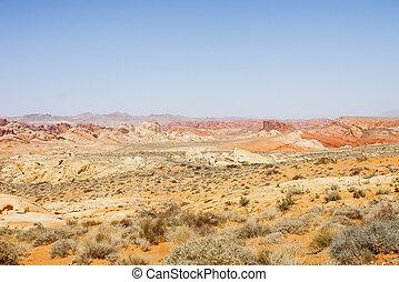 lointain, désert, coloré, autoroute