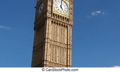 londres, tour, horloge, royaume-uni, ben, grand