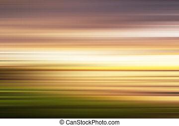long, coloré, coucher soleil, exposition