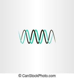 longueur onde, symbole, vecteur, fréquence, logo